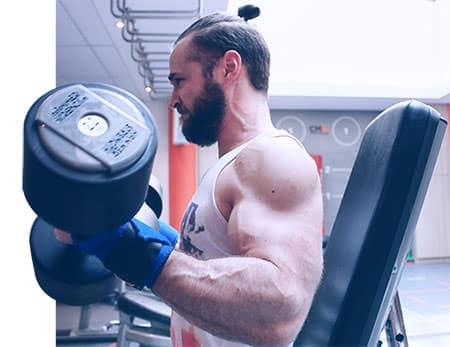curl biceps assis