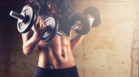 femme curl biceps