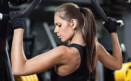 femme prise de muscle
